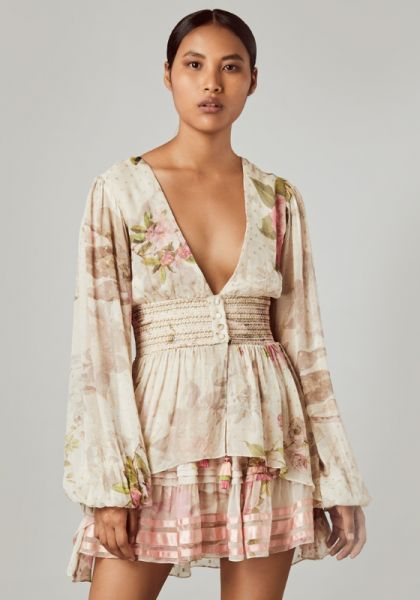 Rococo Sand Floral Tunic Dress