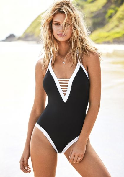 Seafolly Block Party V Neck Swimsuit
