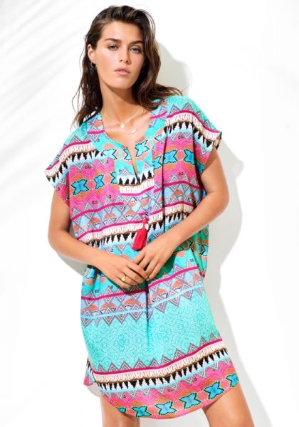 Seafolly Ibiza Embellished Print Coverup
