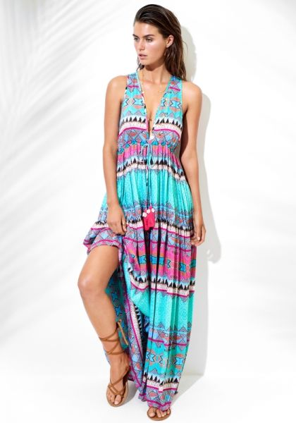 Seafolly Ibiza Embellished Maxi Dress
