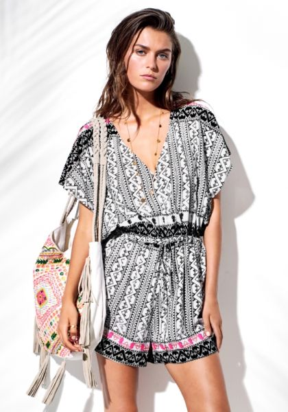 Seafolly Embellished Print Playsuit