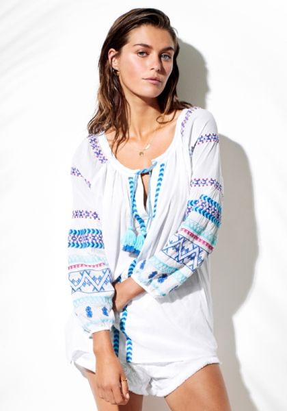 Seafolly Folk Embroidered Blouse