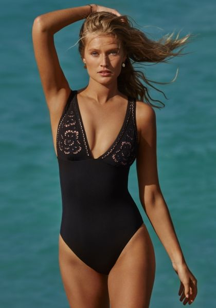 Seafolly Dawn to Dusk Embroidered Swimsuit