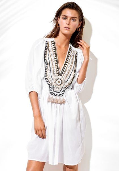 Seafolly Ibiza Escape Embellished Kaftan