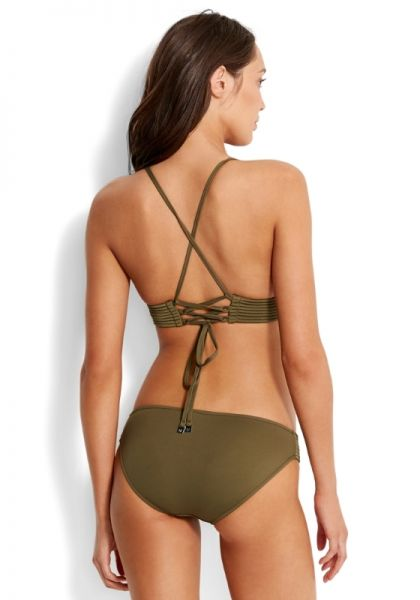 b631f3d60c Quilted Triangle Bikini Olive