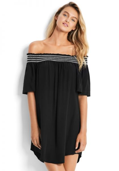 Seafolly Spice Temple Off Shoulder Dress
