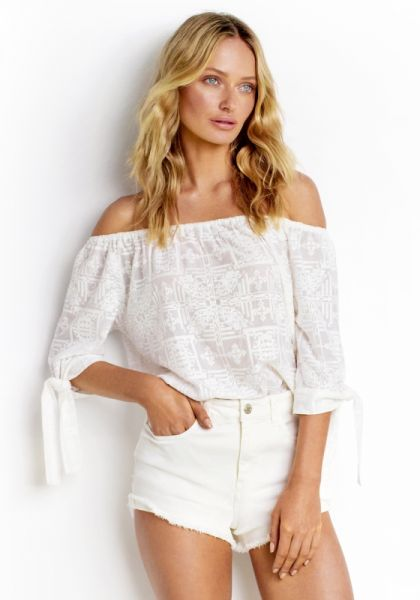 Seafolly White High Waisted Shorts