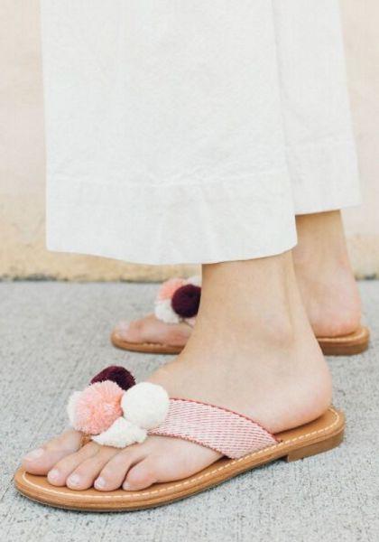 Soludos Capri Pom Sandals