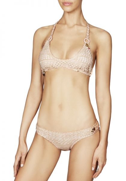 Stella McCartney Light Pink Crochet Bikini