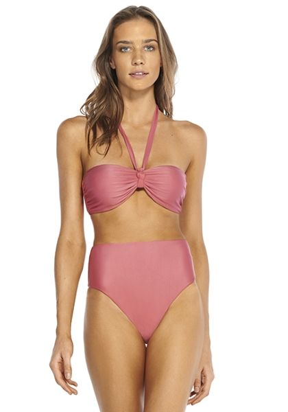 Vix Judy Bandeau High Waist Bikini Blush