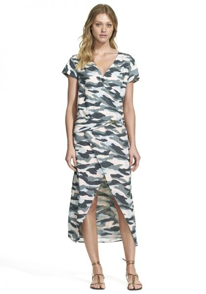 Vix Camo Rubi Midi Dress