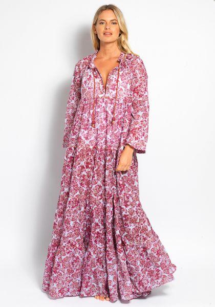 Yvonne S Hippy Maxi Dress Bubbles