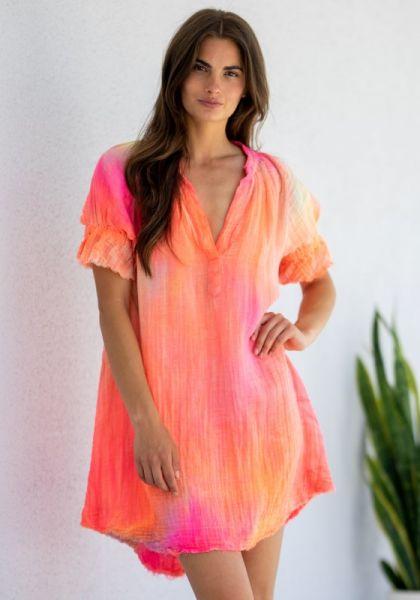 9Seed Antibes Dress Neon Tie Dye