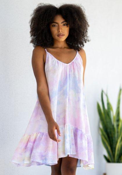 9Seed St Tropez Dress Pastel Tie dye