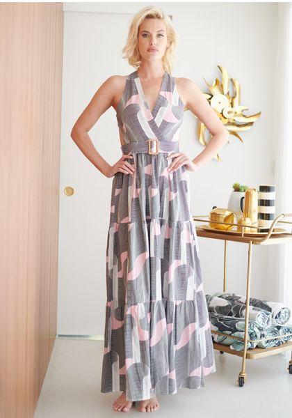 Alexandra Miro Mimi Dress Black Swirl