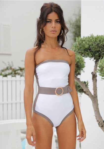 Alexandra Miro Whitney Swimsuit White/Mink