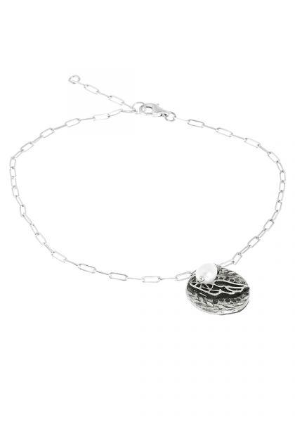 Ancient Greek Sandals Fine Chain Pearl