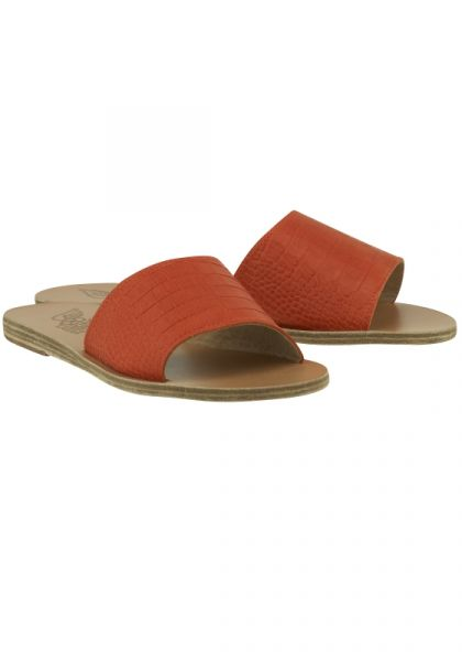Taygete Slides Orange Croc