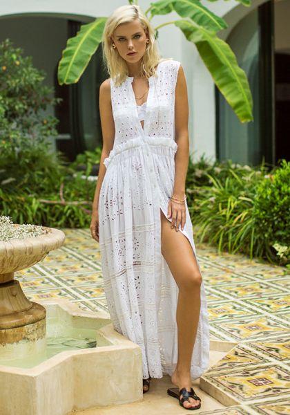 Anjuna Brigitta Sleeveless Shirt Dress