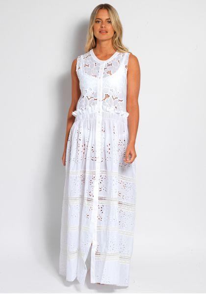 Brigitta Sleeveless Shirt Dress
