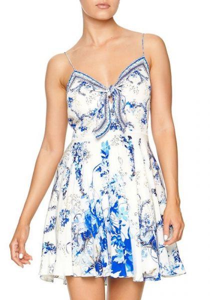 Camilla St Germain Tie Front Short Dress