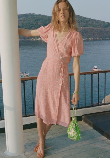 Faithfull The Brand Fran Midi Dress Maurie Floral Print