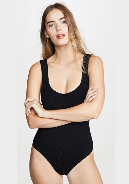 Hunza G Classic Square Neck Swimsuit Black