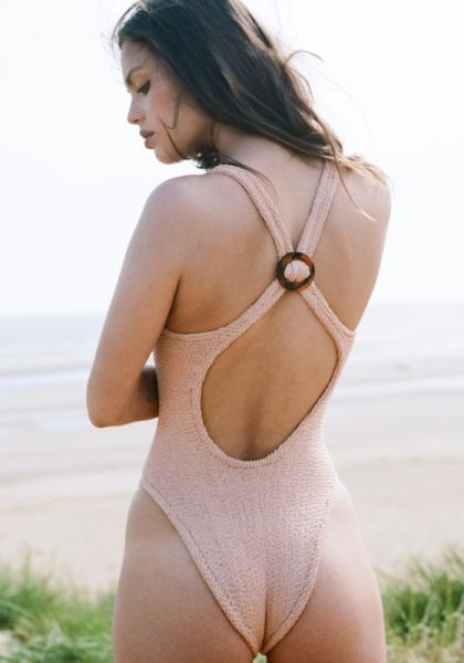Hunza G Zora Swimsuit Taupe