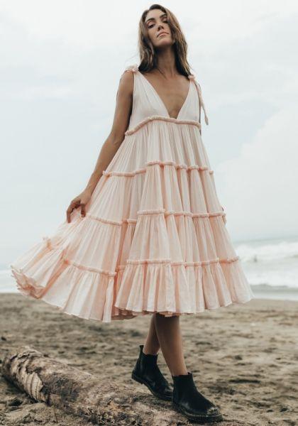 Innika Choo Ramie Dress Peach