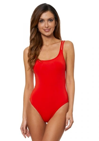 JETS Double Strap Swimsuit Flame