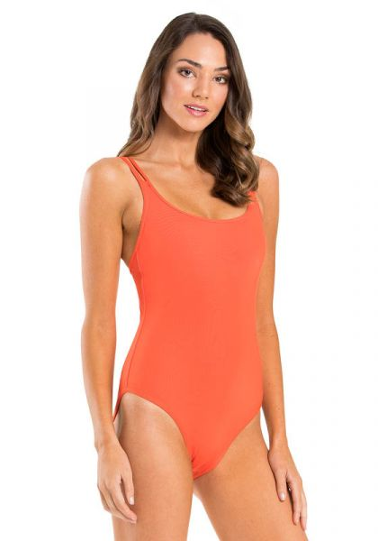 Jets By Jessika Allen Double Strap Swimsuit Tangelo