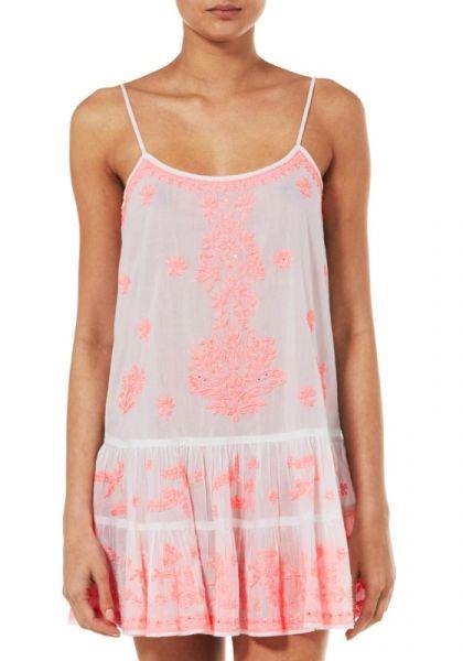 Juliet Dunn Coral Embroidered Cami Dress