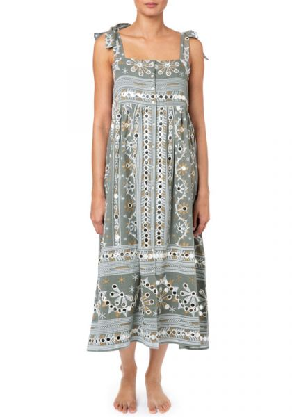 Juliet Dunn Nomad Print Tie Dress