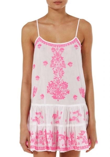 Juliet Dunn Pink Embroidered Cami Dress