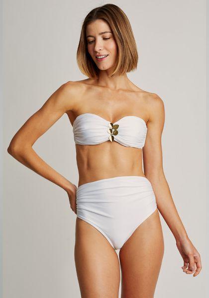 Lenny Niemeyer Embellished Bandeau Bikini White