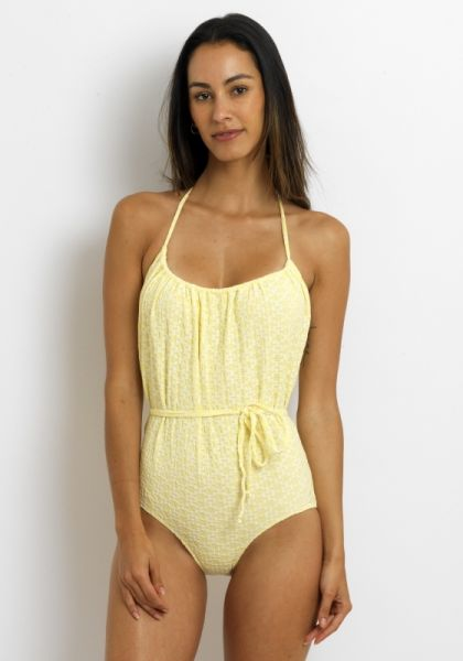 Lisa Marie Fernandez Charlotte Swimsuit yellow