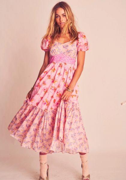 LoveShackFancy Angie Dress Exploded Pink