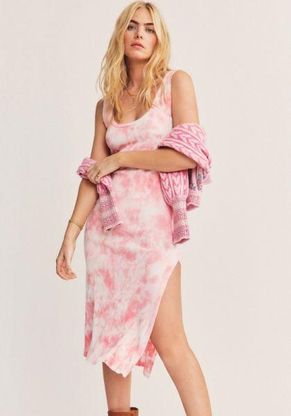 LoveShackFancy Citra Midi Dress Pink