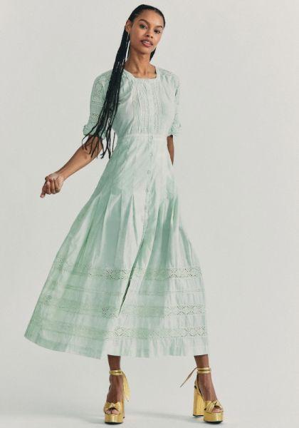 LoveShackFancy Edie Dress Green