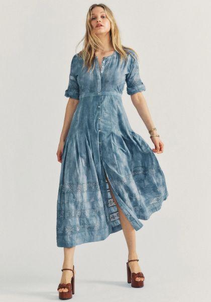 LoveShackFancy Edie Dress Washed Denim