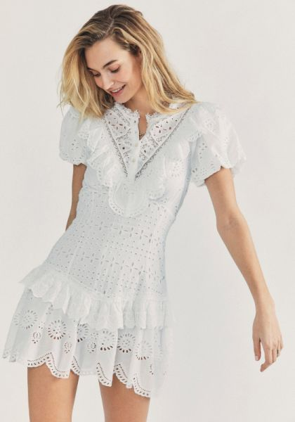 LoveShackFancy Fritzi Dress White