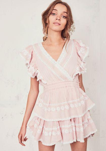 LOVESHACKFANCY GWEN DRESS PINK