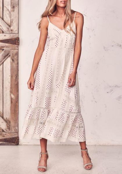 LoveShackFancy Marlow Dress Ivory Ikat