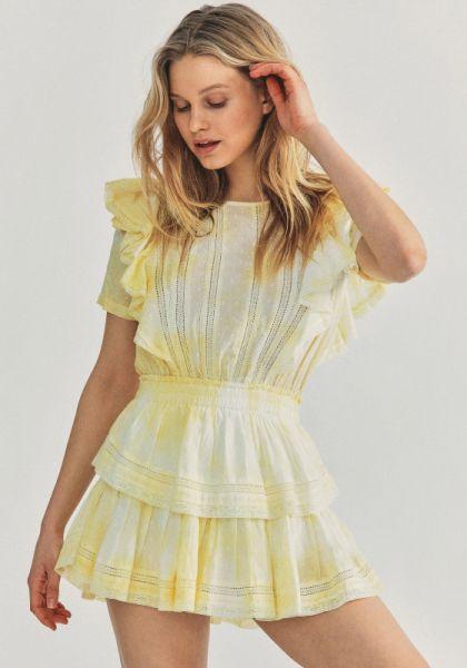 LoveShackFancy Natasha Dress Lemon