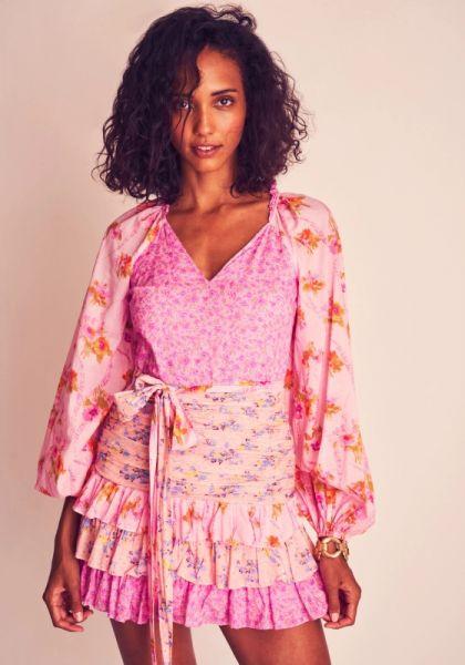 LoveShackFancy Rina Dress Exploded Pink