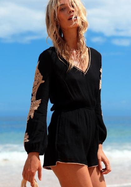 Gianna Romper Black