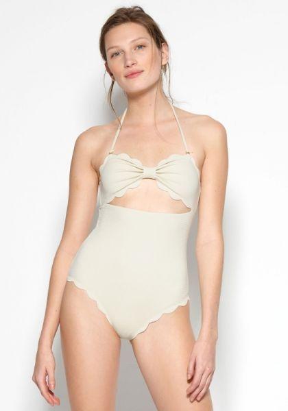 Marysia Antibes Swimsuit Panna