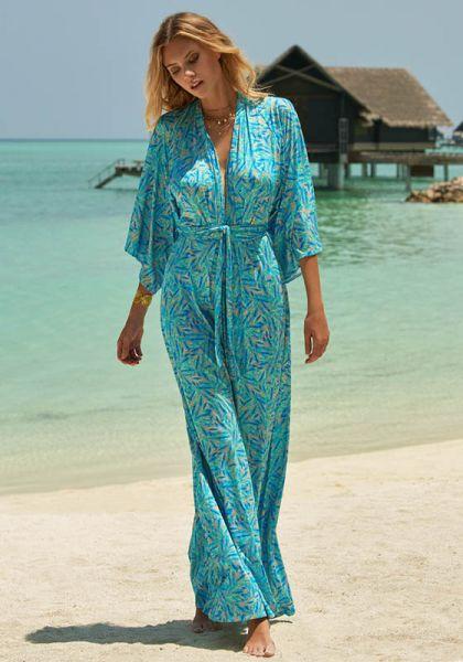Melissa Odabash Annaelle Dress Blue Leaf