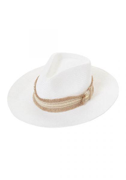 Melissa Odabash Blake Hat White