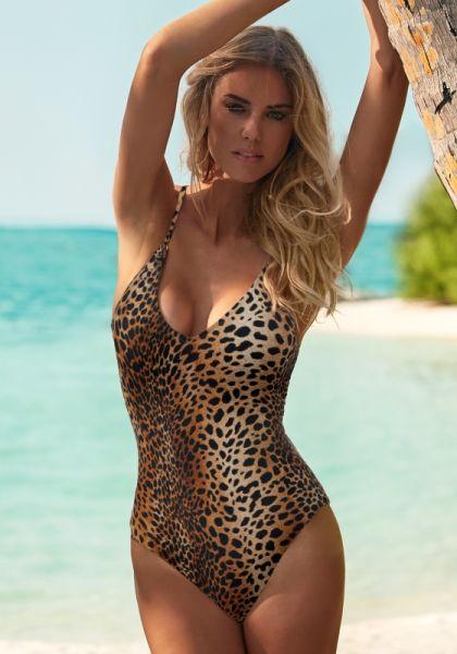 Melissa Odabash Bora Bora Swimsuit Cheetah